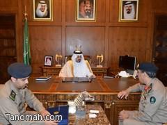 أمير عسير يستقبل اللواء محمد رافع الشهري