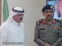 رئيس مركز الأمواه فيصل الشهري يستقبل مدير شرطة عسير