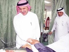 الدكتور الحواسي يتفقد مستشفى عسير والنماص وتنومه وبللسمر وبللحمر