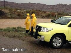 الدفاع المدني : أمطار عسير لم تخلف اي حوادث تستوجب تدخلنا