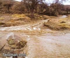 أمطار على شرق النماص وعلو وادي ترج