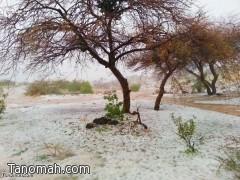"""تقرير مصور عن أمطار """"وبرد"""" يوم أمس الأحد على محافظة تنومة"""