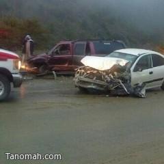 """تصادم بين مركبتين يعطل حركة المرور في """"عقبة القامة"""""""