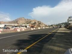 فتح المسار الأيمن في شمال تنومة أمام حركة المرور