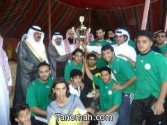 فريق النجوم يفوز بكأس بطولة بللسمر لكرة القدم