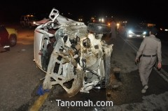 حادث مروع يقتل ثمانية عشر من مجهولي الهوية في رجال ألمع