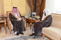 أمير عسير يستقبل فضيلة الشيخ الدكتور صالح بن ناعم بعد انتهاء مهمته وعودته للمنطقة