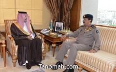 أمير عسير يستقبل اللواء محمد بن رافع الشهري