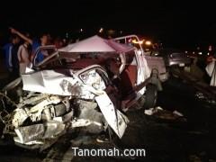 وفاة وإصابة  خمسة أشخاص في حادث ببللحمر