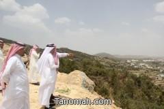 أمين عسير في جولة تفقدية لبلديتي النماص وبني عمرو