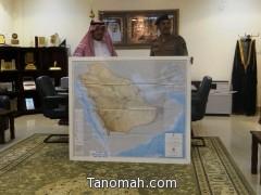 مدني تنومة يهدي الهزاني خارطة المملكة