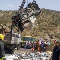 حادث مروري يودي بحياة أب وابنائه شمال النماص