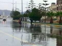 أمطار على محافظة تنومة