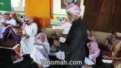 بمشاركة مدير مكتب التربية والتعليم طلاب ثانوية الملك فهد بتنومة في زيارة لمتحف دحدوح