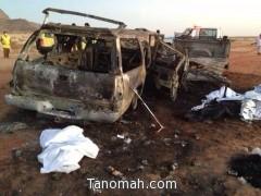 وفاة 11 شخصاَ وإصابة خمسة في حادث تصادم بتثليث