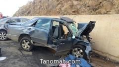 وفاة شابين واصابة اخر في حادث تصادم بأبها