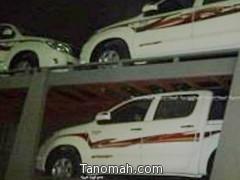 شرطة  عسير تلقي القبض على سارقي شاحنة السيارات