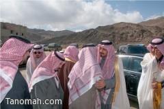 أمير عسير يعزي أسرة ال مسبل في فقيدتهم