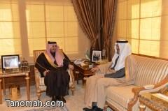أمير عسير يستقبل الأمير بندر بن خالد