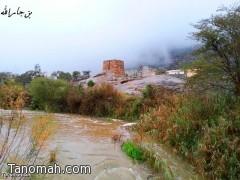 تقرير مصور عن أمطار تنومة اليوم السبت