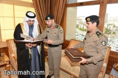 أمير عسير يتسلم التقرير السنوي لشرطة المنطقة