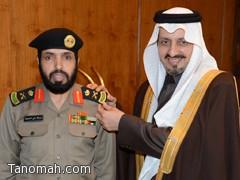 أمير عسير يقلد اللواء عبدالله الشهري رتبته الجديدة