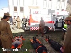 إخماد حريق في سجن تنومة ونقل أحد المصابين الى المستشفى