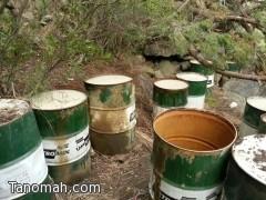 الهيئة تدمر مصنع للخمور شرق تنومة وتتلف كميات كبيرة من المسكر