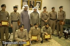 أمير منطقة عسير يكرم شرطة النماص على جهودها في القضاء على المجهولين