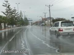 بالصور ...أمطار على تنومة وبارق