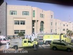 الدفاع المدني يسيطر على حريق في جامعة الملك خالد