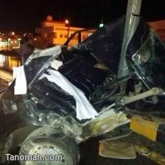 وفاة  شخص في حادث مروري جنوب محافظة النماص