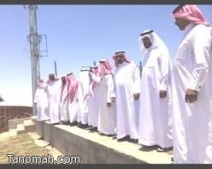 مشايخ ونواب تنومة يطلعون على المشاريع البلدية في جولة مع رئيس المجلس البلدي