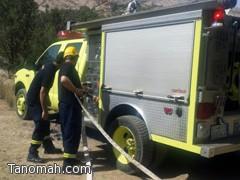 """مدني تنومة يسيطر على حريق في منتزه """"شق"""""""