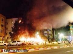 الدفاع المدني لا أصابات في حريق النماص وإخلاء 19 أسرة من المبنى