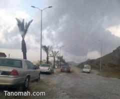 أمطار متوسطة على منطقة عسير