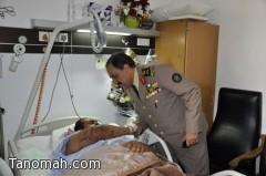 اللواء الشهري يزور المصابين ويعايدهم بمستشفى عسير