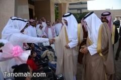 أمير عسير يسلم عدداً من ذوي الاحتياجات الخاصة مركبات مجهزة لخدمتهم