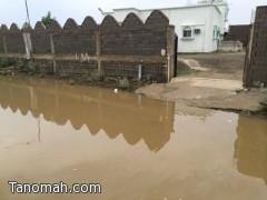 المياه تحاصر منزل مواطن في قضريمة بالمجاردة