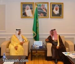 رئيس وكالة الأنباء السعودية يستقبل محافظ بارق
