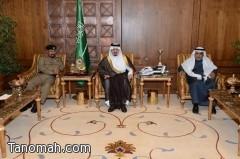 أمير عسير يستقبل مساعد مدير الأمن العام و اللجنة الأمنية