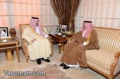 أمير عسير يستقبل الأمير نايف بن ثنيان  وقينان الغامدي