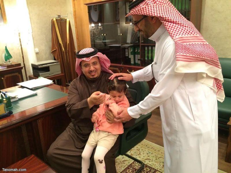 محافظ تنومة يدشدن الحملة الوطنية للتحصين ضد شلل الأطفال