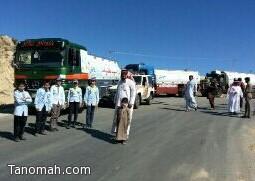 مدير مكتب تعليم بني عمرو يرعى مبادرة عبدالله بن عمر لتوزيع المياه على المحتاجين