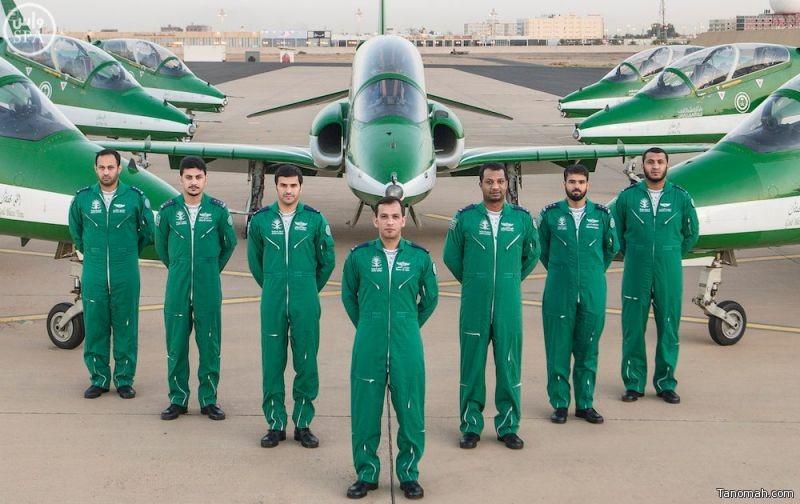 فريق الصقور السعودية يبدأ موسم العروض الجوية لعام 2015م