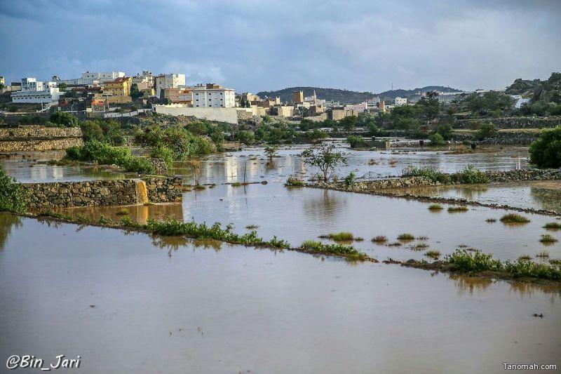 أمطار قرى المهد وآل ثابت وبني مشهور