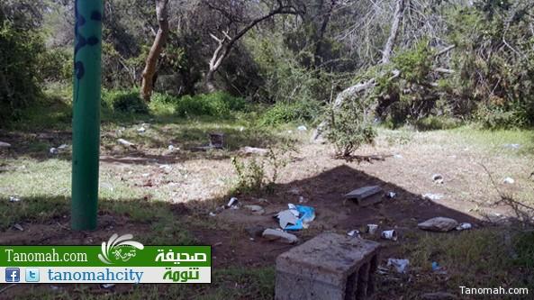 مواطن: منتزهات تنومة تشكو الإهمال وعبث المتنزهين