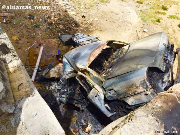 بالصور :حادث مروري مروع يودي بحياة شاب في النماص