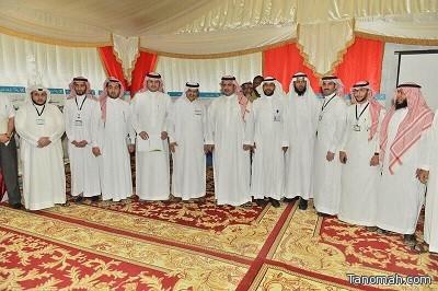 رئيس نادي الهلال يقوم بزيارة مخيم التفطير التابع لجمعية البر بالعريحاء