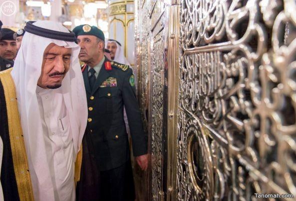 صور من زيارة خادم الحرمين للمسجد النبوي الشريف